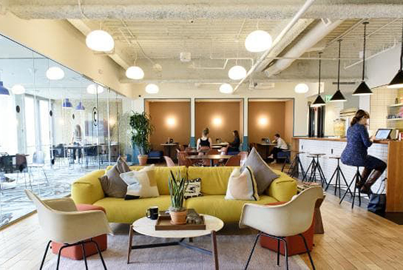 WeWork's Embarcadero offices in San Francisco. WeWork is now the biggest office space renter in Manhattan. Picture: Bloomberg.