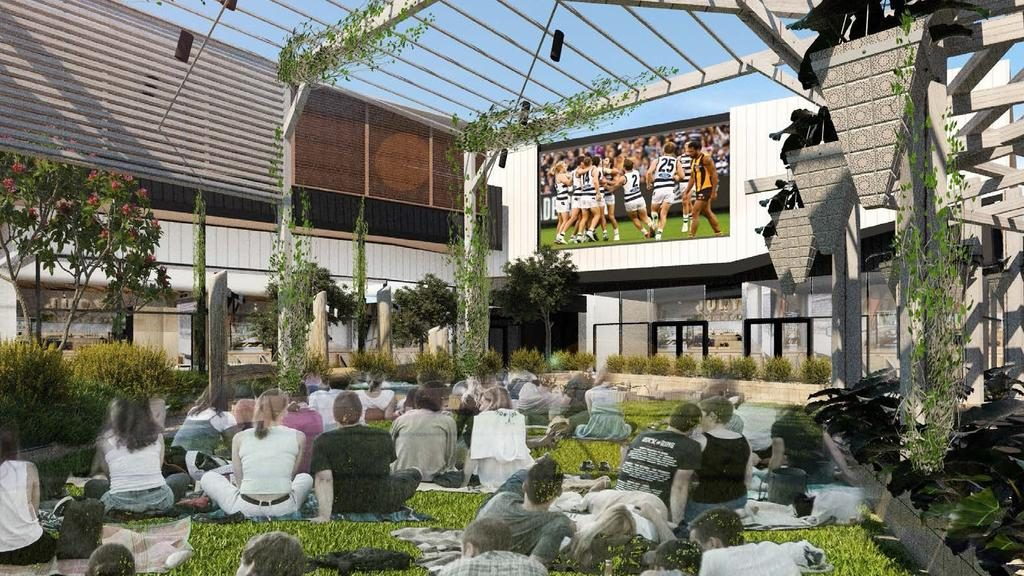 A big screen will feature in the outdoor plaza at Kingston Village.