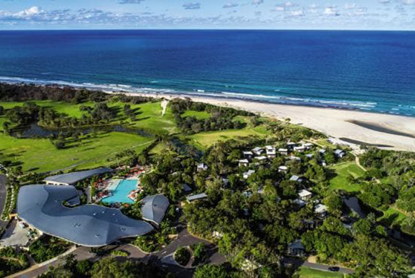An overhead view of the $100 million Elements of Byron Bay.