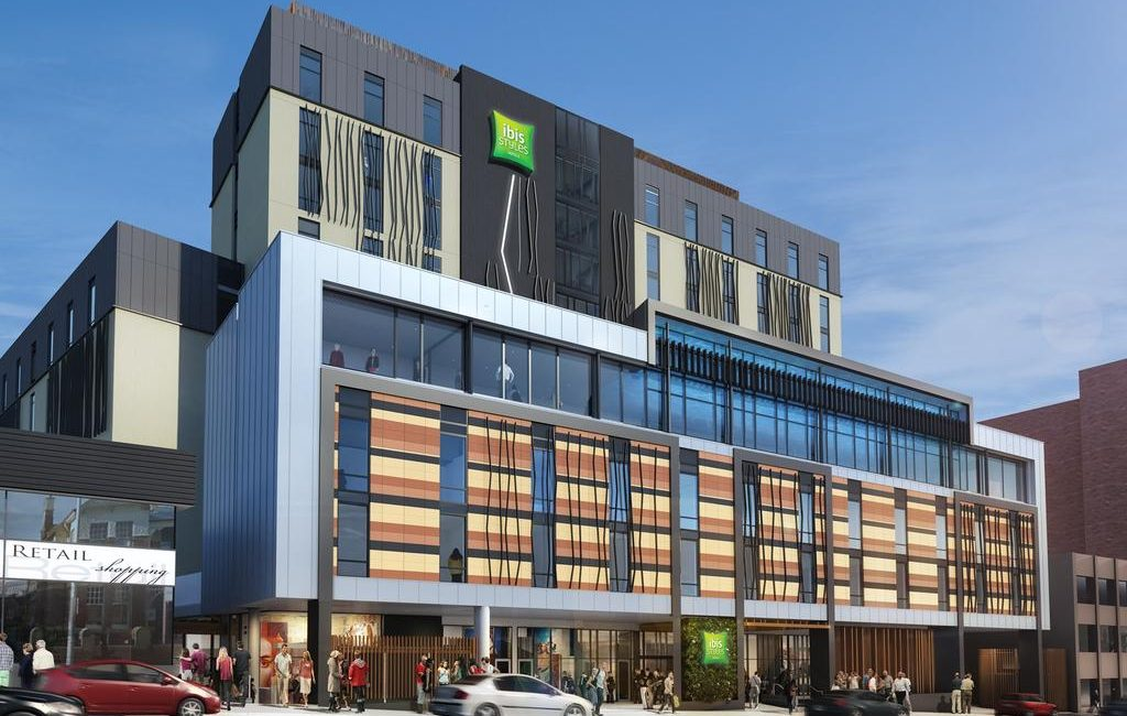An artist's impressions of Hobart's ibis Styles hotel.