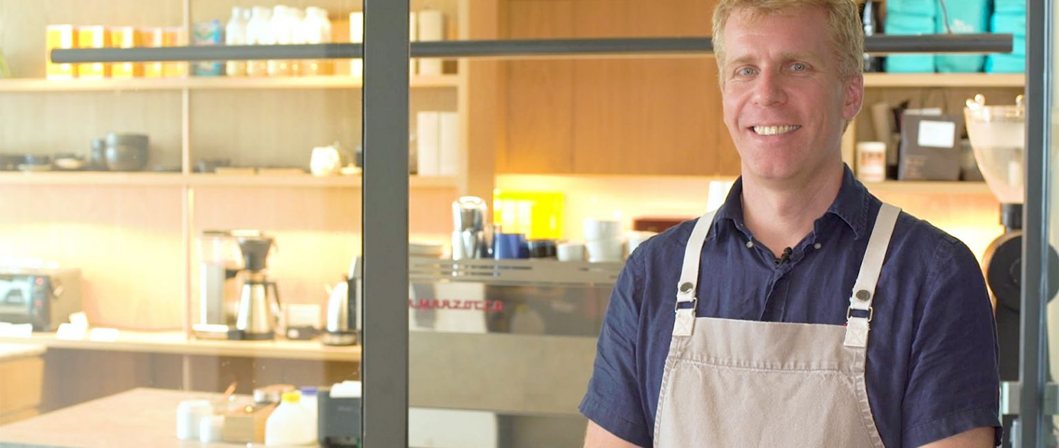 Adrian Maher built his cafe Heresy from the ground up.