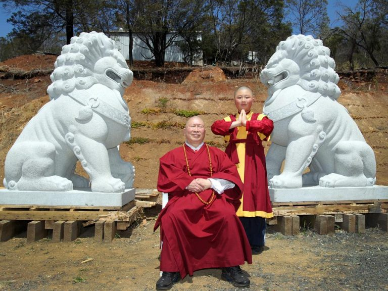 Public behind Tasmanian Chinese Buddhist Cultural Park