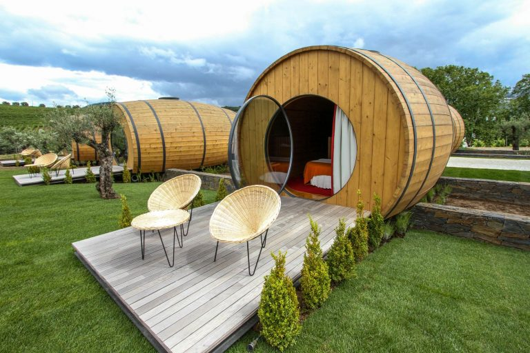 Stay a night in these giant wine barrels