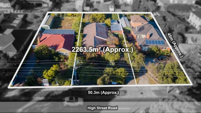Three houses, one potential 2019 record for Glen Waverley block