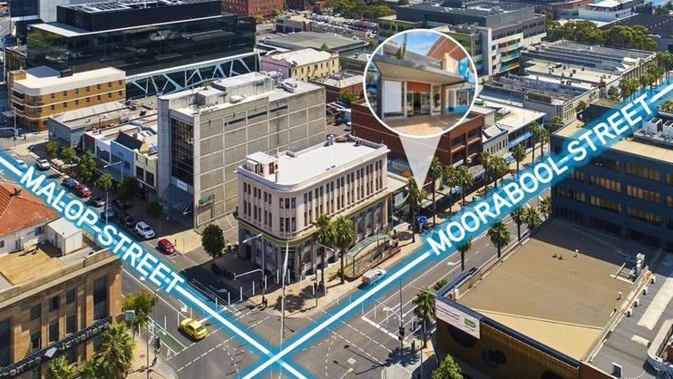The office/retail building at 82 Moorabool St, Geelong sold for $1.255 million at auction.