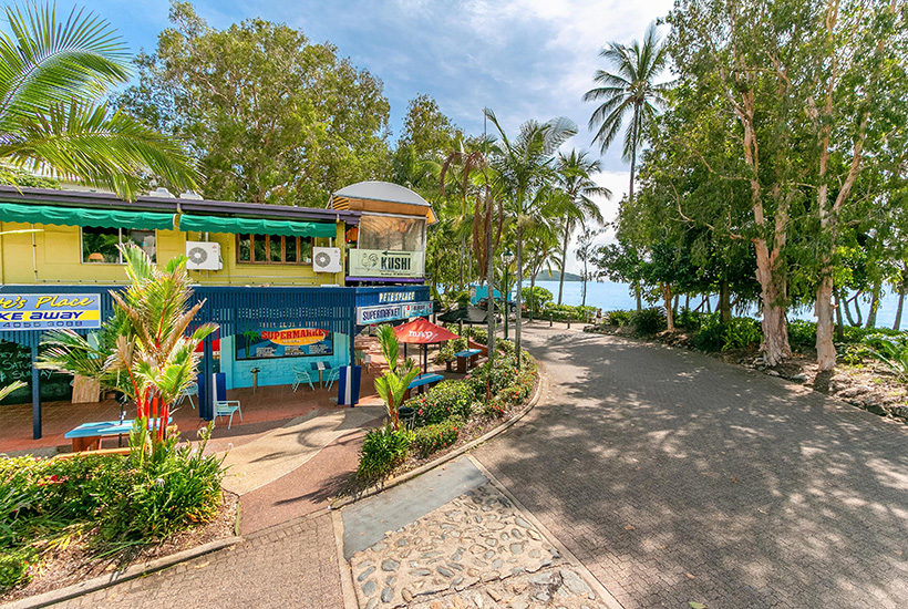 The renowned restaurant and retail property at Palm Cove.