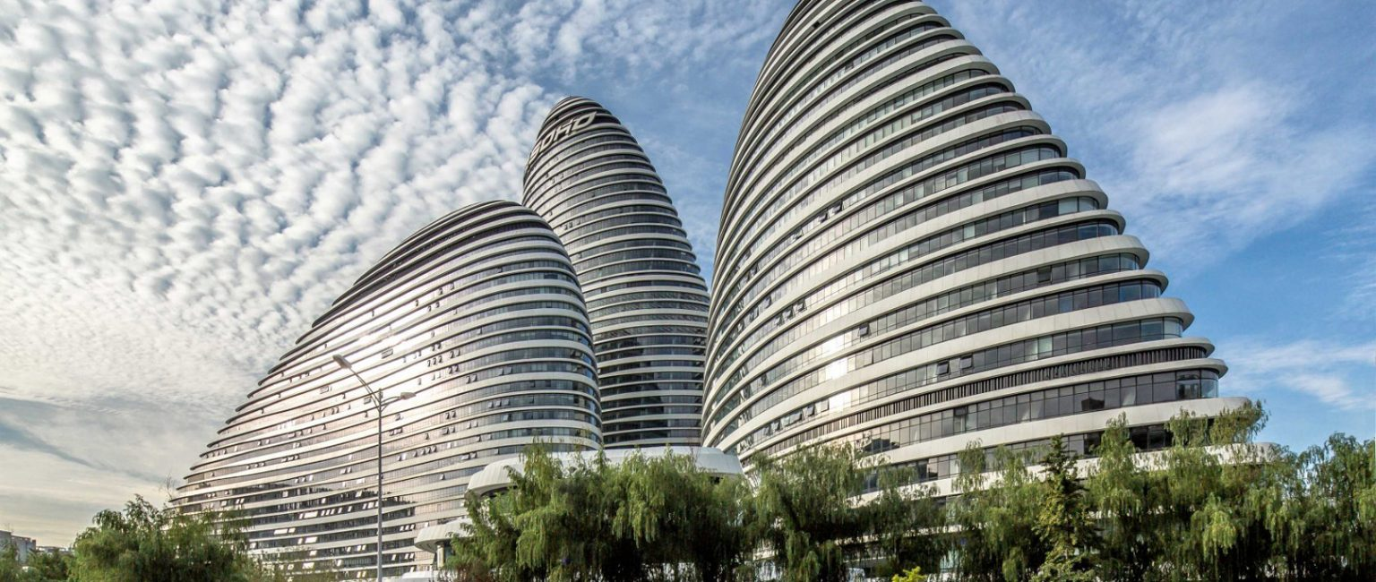 A Chinese court handed a publisher a hefty fine after it said a Zaha Hadid Architects-designed complex had bad feng shui. Picture: Zaha Hadid Architects/Jerry Yin