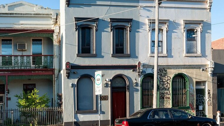 The grand Victorian terrace in Collingwood has been leased to a brothel for about 40 years.