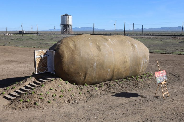 Would you spend the night inside this giant potato hotel?
