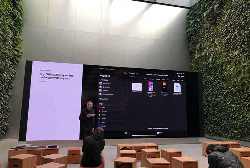The Apple street Westfield Bondi Junction now has two 'vertical gardens'. Picture: Twitter.