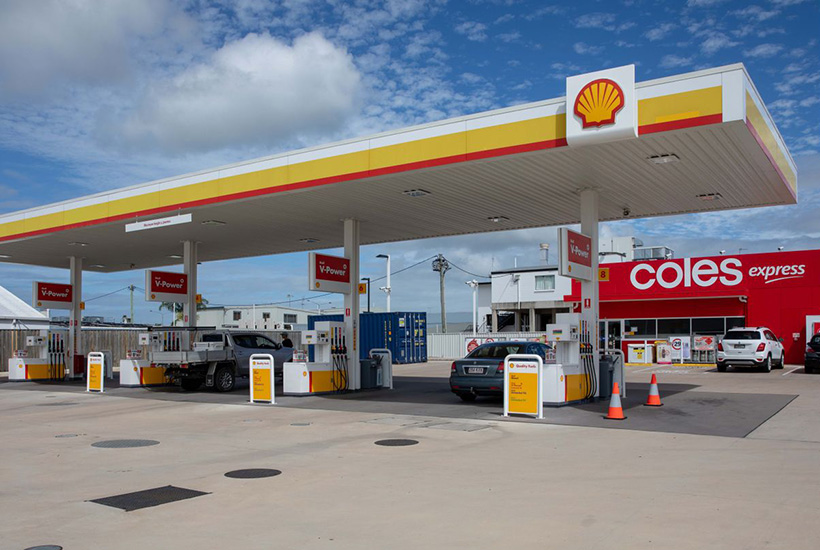 The Coles Express service station at Ayr in Queensland.