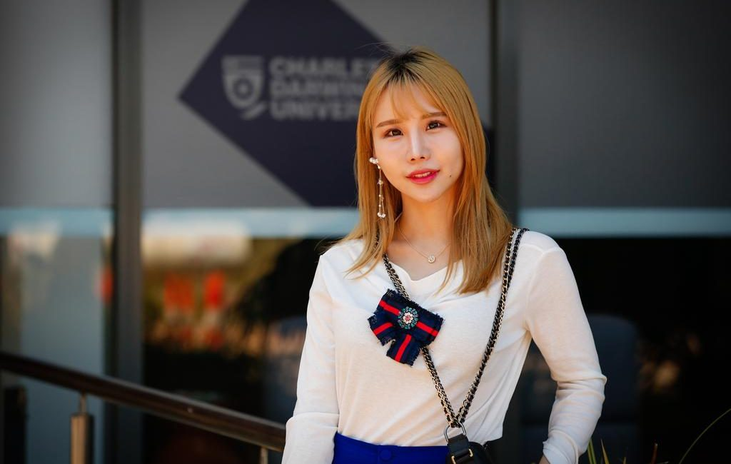 Chinese business student Xiaoyun Su came to Darwin to immerse herself in the Top End's multicultural lifestyle while studying. Picture Glenn Campbell