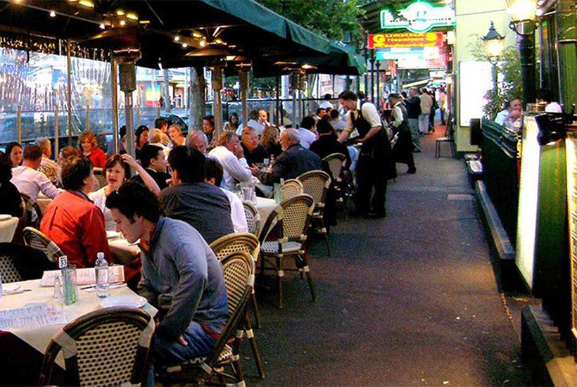 Outdoor dining will eventually resume under Victoria's roadmap to reopening its economy.