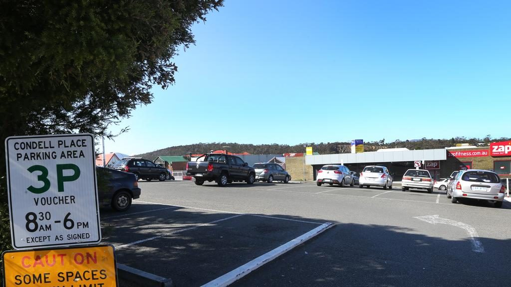 The Condell Place car park at North Hobart. Picture: CHRIS KIDD