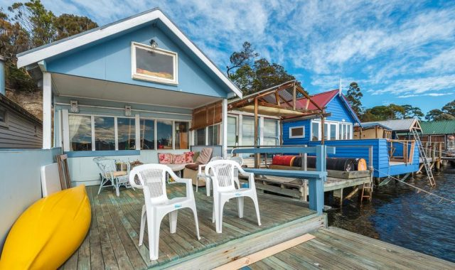 Cornelian Bay boat sheds touted as perfect office