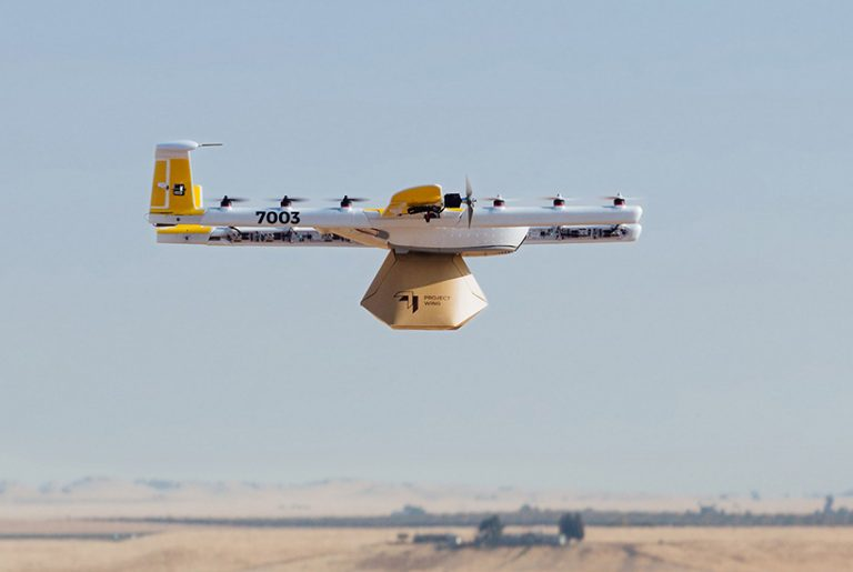 Google drone delivery company leases Logan space