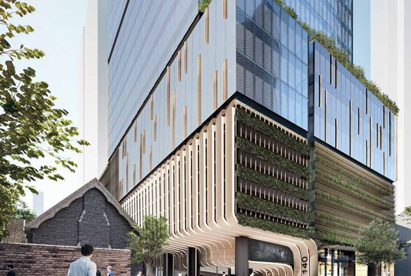 An artist's impression of the development at 140 Lonsdale St in Melbourne.