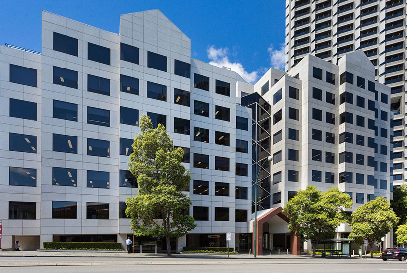 The office building at 256 St Georges Terrace in Perth.
