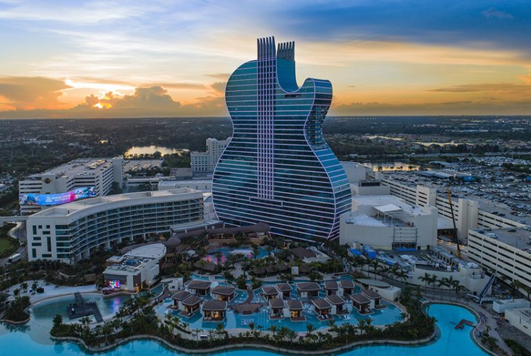 World's first guitar-shaped hotel strikes a chord