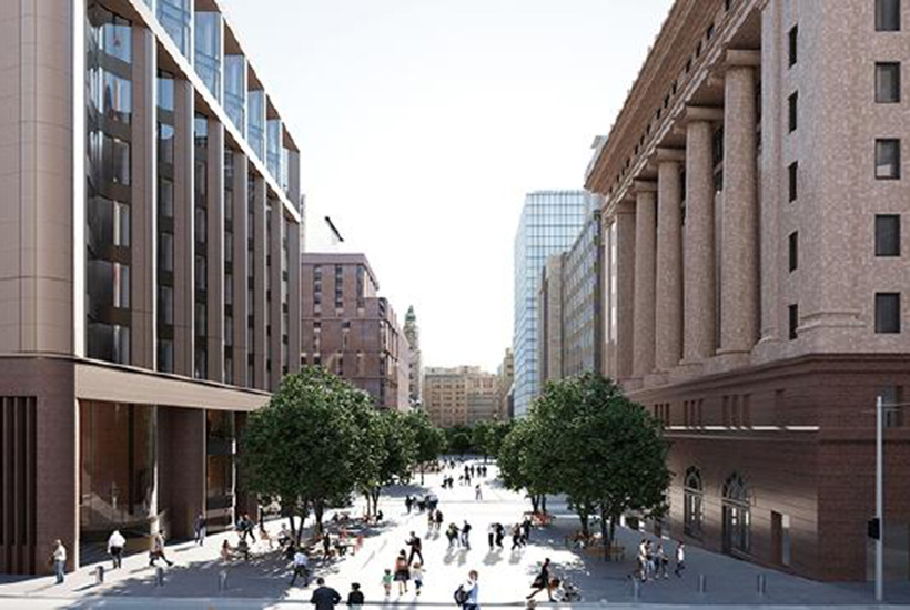 An artist's impression of 39 Martin Place in Sydney that Macquarie Group is developing