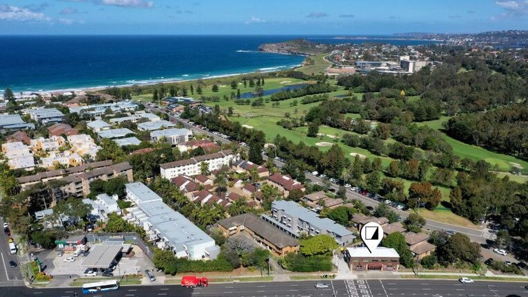 An aerial view of Mona Vale which is seeing strong commercial activity.