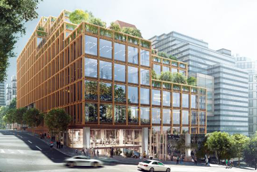 An artist's impression of the proposed THIRDi project in North Sydney.