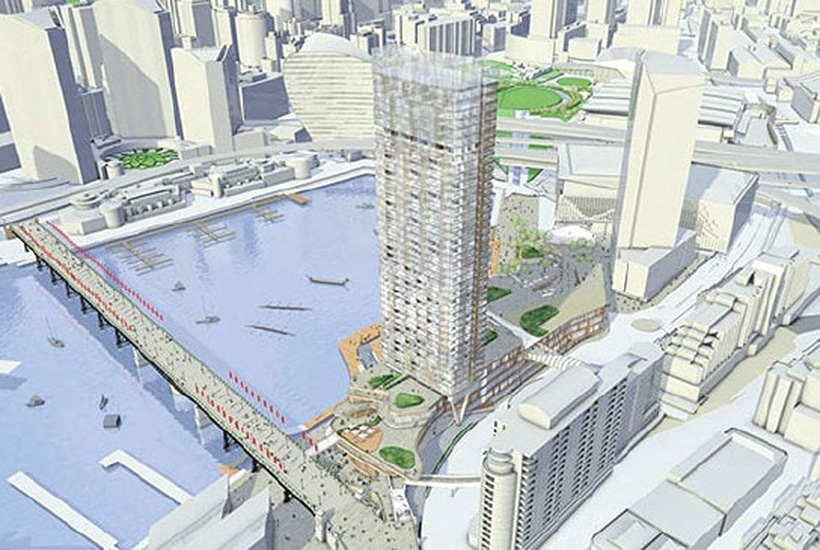 The planned redevelopment of Harbourside Shopping Centre.