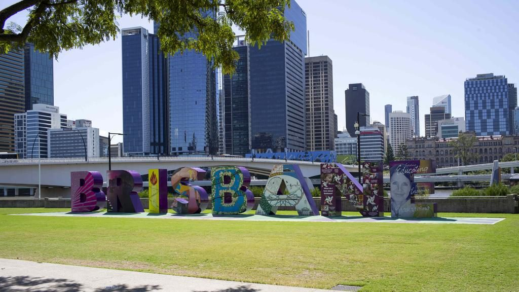 Empty parks and streets in Brisbane City due to social distancing rules linked to the Coronavirus pandemic. Picture: Russell Shakespeare