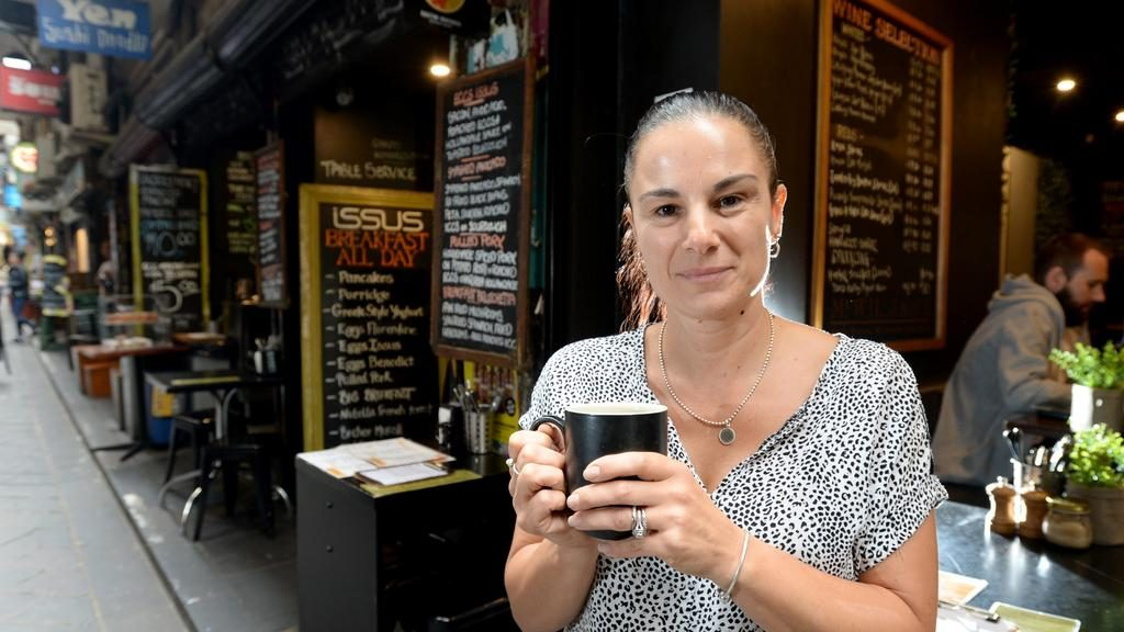 Joanna Brewer's Melbourne cafe has been affected by shutdown measures. Picture: Andrew Henshaw