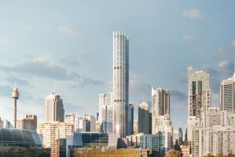 Artist's impression of the new tower at 505 George Street in Sydney. Picture: Supplied