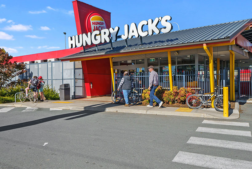 The Hungry Jack's at Wangaratta in Victoria.