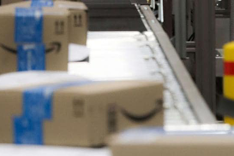 Machines in Amazon's fulfilment centre in Moorebank in Sydney. Picture: AAP