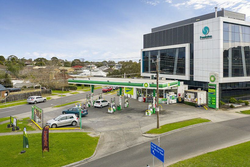 The BP service station at Frankston is on the market.