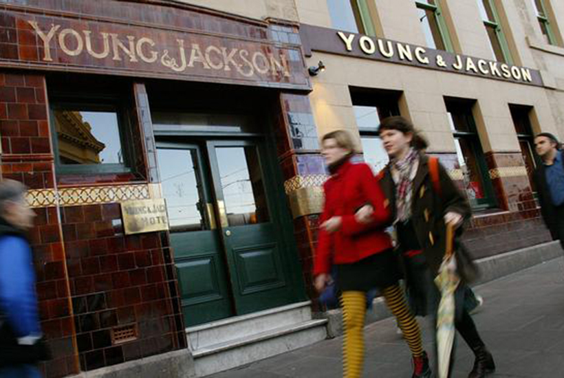 ALE Property Group is still dragging in rents from ALH's 86 venues even though its tenant is unable to run its famed Victorian pubs, including Young & Jackson in the Melbourne CBD, while coronavirus restrictions are in place. Picture: AFP