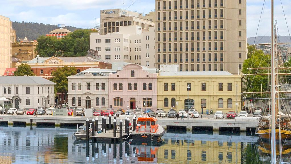 Rare chance to buy a whole waterfront city block. No.2 Elizabeth Street and No.7-9 Franklin Wharf, Hobart. Picture: SUPPLIED