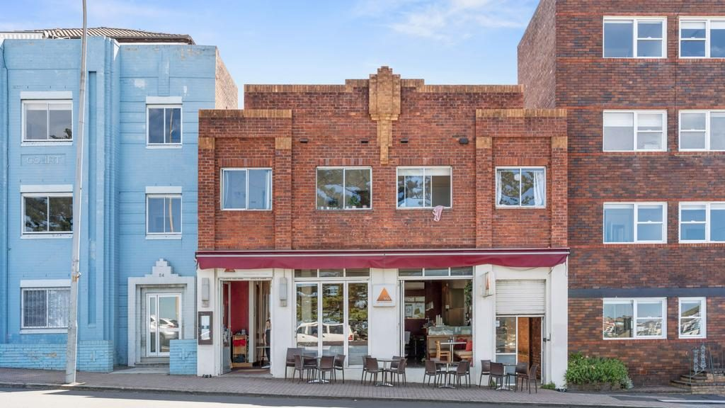 The four flats sit above Trio restaurant at 56 Campbell Parade, Bondi Beach. The price guide for the whole block is $12m for a December 8 auction.