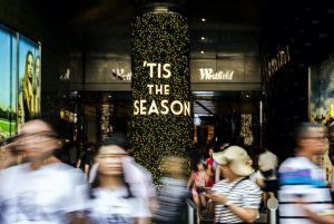 Shopping centres are upping the ante to lure shoppers in store this Christmas