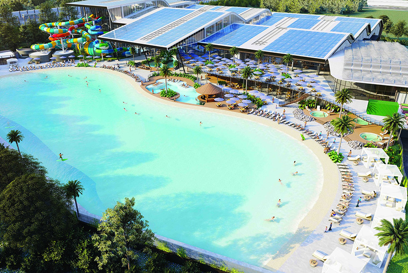 The new Dingley water park will now include a beach and surfing.