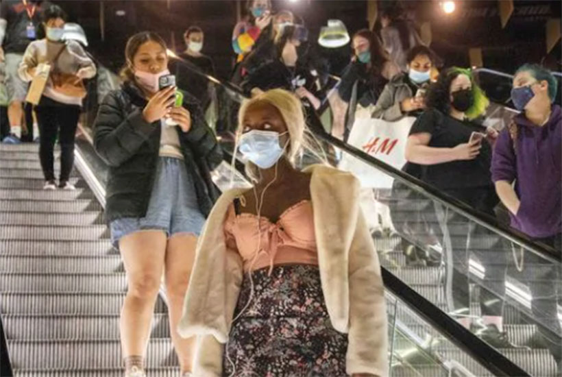 Shoppers at the Melbourne Central mall, which has been hard hit by Victoria's repeated COVID-19 lockdowns. Picture: NCA NewsWire / David Geraghty