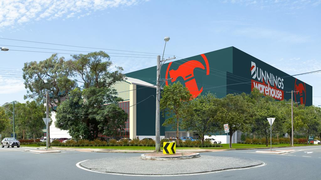 Artist impression of a massive new Bunnings planned for Frenchs Forest in Sydney's northern suburbs. Supplied by Bunnings.