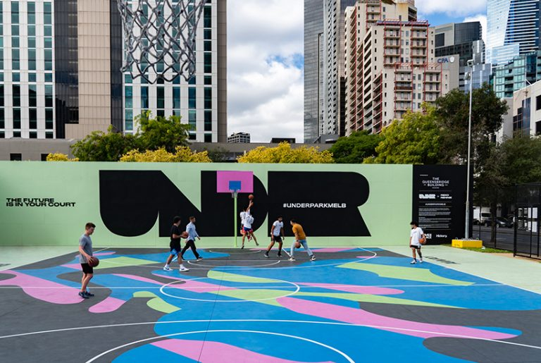 Developer commissions art you can play basketball on