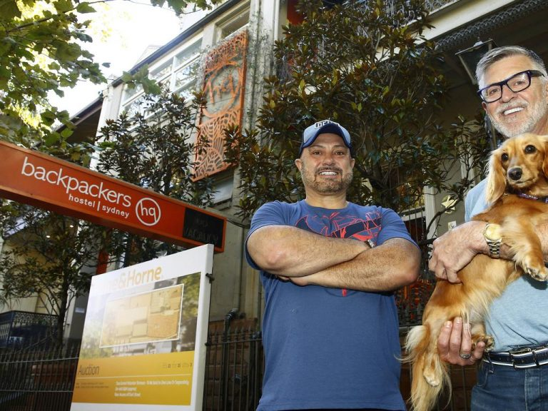 Backpackers HQ owners in Potts Point say 'it's time to roll the dice' as demand grows for big houses