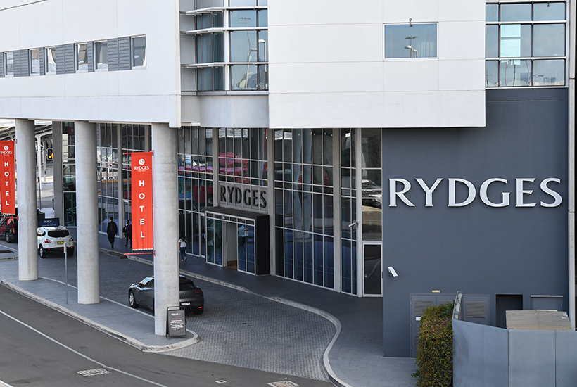 Rydges Hotel at Sydney Airport is located just 100m from the airport.  Picture: Getty