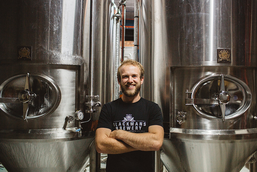 Renn Blackman at Blackman's brewery says those looking to get into craft brewing should try and find a large space. Picture: Geelong Advertiser