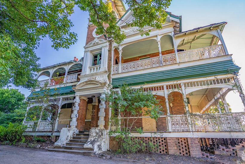The mansion was put on the market to resolve a rates dispute with the previous owner.  Picture: realcommercial.com.au/for-sale
