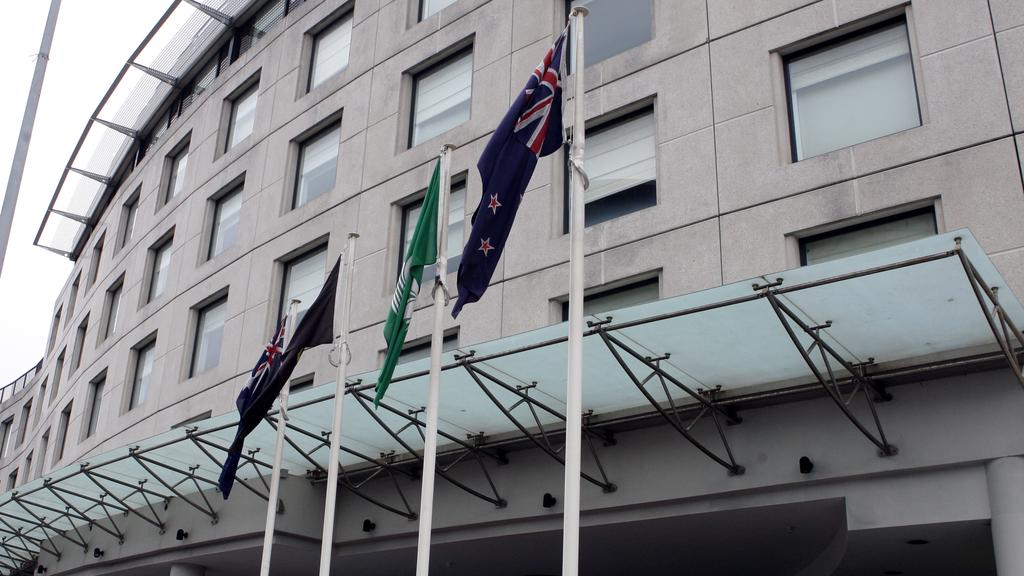 Exterior of the Vibe Hotel in Rushcutters Bay, Sydney. It is alleged that actor Matt Newton trashed a room.