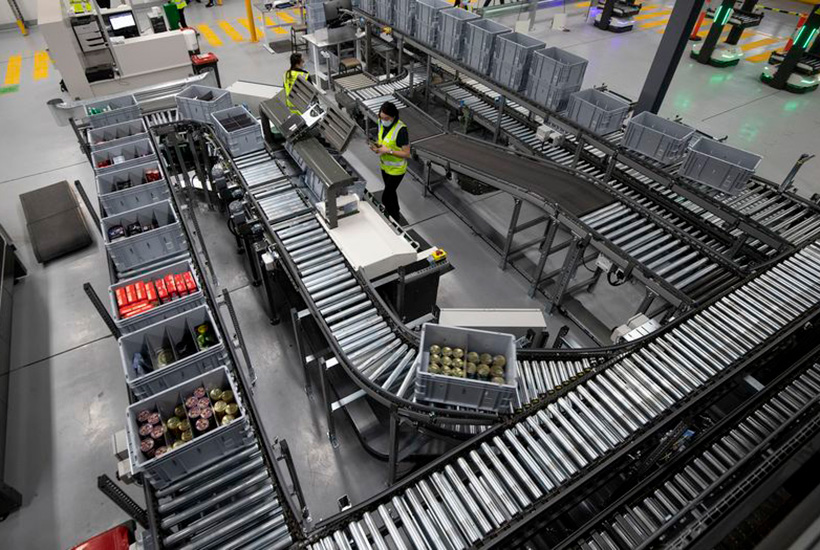 Warehouse distribution centres and last mile logistic properties are increasingly sought after as the speed of deliveries from online shopping becomes mores important to consumers. Picture: Woolworths/Knight Frank