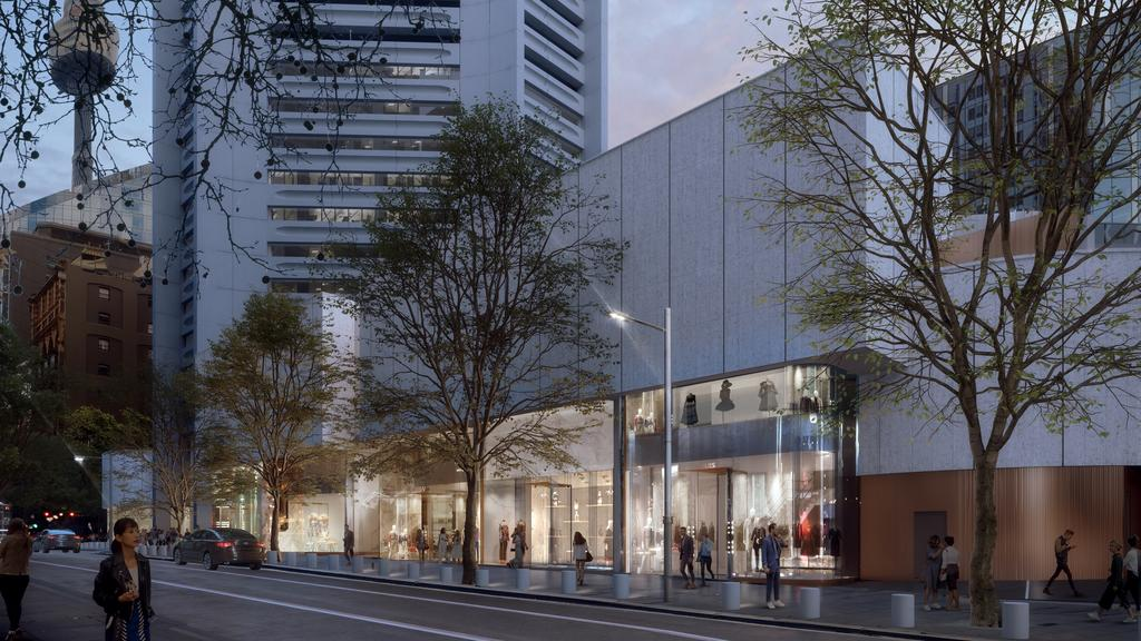 Supplied Editorial Artists impression of the retail precinct at 25 Martin Place being redeveloped by Dexus