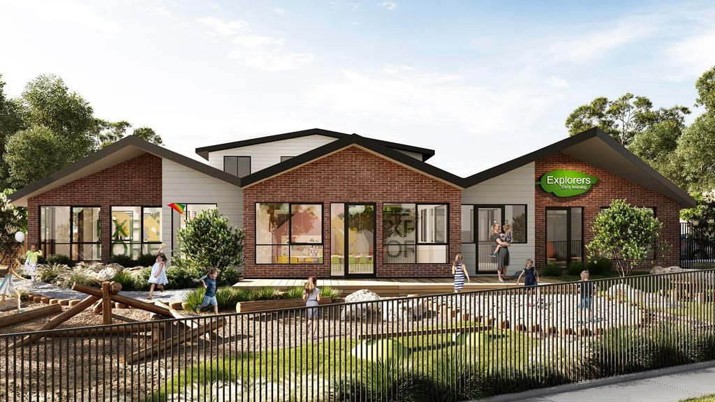 A render of a childcare centre sold in Croydon - for herald sun real estate